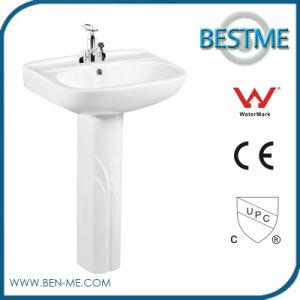 Hot Sale Cheap Pedestal Wash Basin pictures & photos