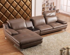 Luxury Living Room Furniture Geniune Leather Corner Sofa (HX-SN010) pictures & photos