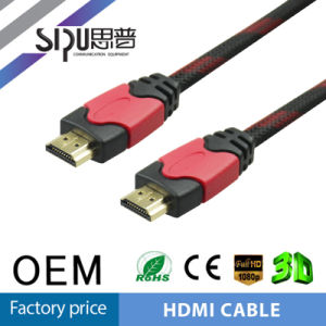 Sipu Wholesale Plug HDMI Cable Support 4k 1080P 3D Etherne pictures & photos