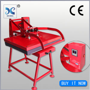 Manual large format sublimation heat press machine plate heat transfer press machine t-shirt pictures & photos