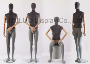 New Linen Wrapped Male Mannequin with Wooden Arms pictures & photos