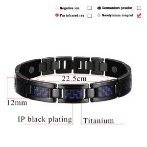 Carbon Fiber Titanium Black Plated Bracelet for Men pictures & photos