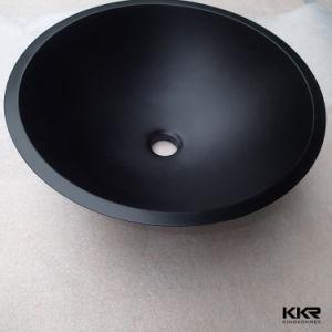 Modern Bathroom Waterfall Black Vessel Washbasin pictures & photos