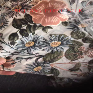 Silk Rayon Opal Fabric, Silk Viscose Burn out Fabric pictures & photos