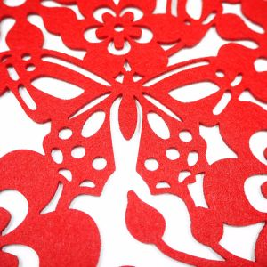 3mm & 5mm Spring Season Polyester Placemat for Tabletop and Holiday Decorations pictures & photos