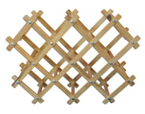 Cheap Solid Wood Wine Rack 10 Bottle Wine Holder Rack pictures & photos