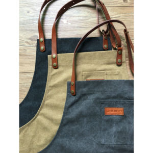 Factory Custom Utility Brown Canvas Woodwork Aprons Wholesale pictures & photos
