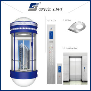 Panoramic Elevator with Semicircle Glass Wall pictures & photos