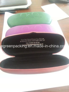 Metal Eyeglasses Case Covered Silk Leather Custom Brand (SP9) pictures & photos