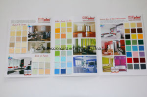 Wall Paint Color Shade Card Brochure for Building Material pictures & photos