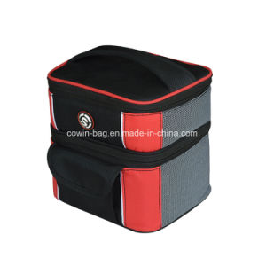 High Quality Two Departments Style Lunch Picnic Bottle Cooler Bag