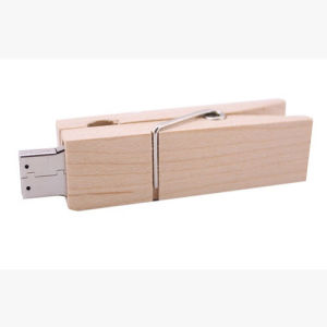 Wooden Folder Wooden Clip USB Flash Drive Gift Customization 128GB 256GB pictures & photos