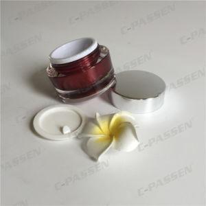 Acrylic Cream Jar with Silver Cap for Cosmetic Packaging (PPC-ACJ-103) pictures & photos