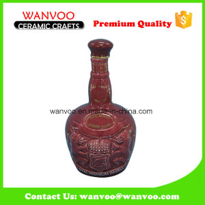 Unique Empty Ceramic Wine Bottle Liquor Bottle with Ceramic Stopper pictures & photos