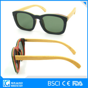 Protect Eyewear Magnetic Trendy Design Polarized Bamboo Sunglasses with Case pictures & photos