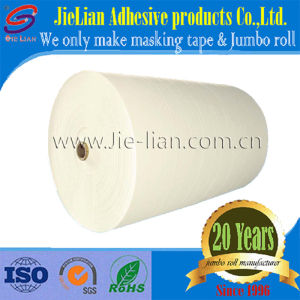 Free Sample Masking Tape Jumbo Roll From Jielian China Supplier for General Purpose in White Color Mt923b pictures & photos