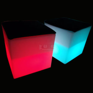 Cube Semi-Hollow Outdoor/Indoor Rechargeable LED Light Furniture pictures & photos