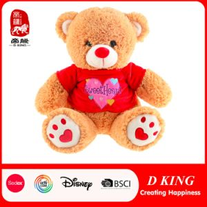 Valentine Teddy Bear Plush Wearing T-Shirt Valentine Gift Bear pictures & photos