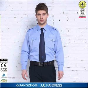 Customize Men′s Security Guard Dress Uniform/Cheap Security Shirt/ White Design Security Guard pictures & photos