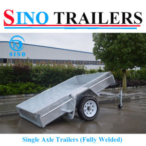 Australian Single Axle Box Trailer with Tilting Funtion pictures & photos