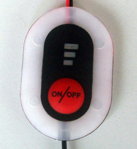 Three level intelligent battery button controller, button switch for heating elements pictures & photos