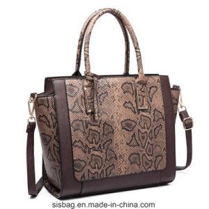 Women PU Leather Handbag Designer Crocodile Snake Shoulder Bag pictures & photos