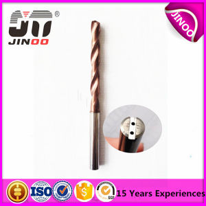Jinoo High Precision Carbide Inner-Coolant Straight Shank Drill Bit pictures & photos