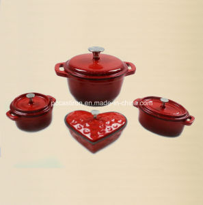 2PCS Enamel Cast Iron Cookware Set pictures & photos