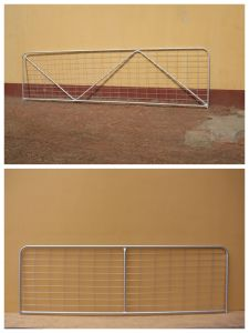 Australia Standard Hot Dipped Galvanized Livestock Field Farm Fence Iron Gate for Cattle Sheep or Horse (XMS44) pictures & photos
