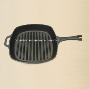Preseasoned Cast Iron Steak Skillet Manufacturer From China. pictures & photos
