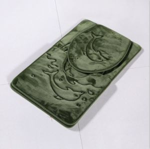 Bath Mat Set 3PCS Memory Foam Three Pieces Set Anti-Slip Bathroom Mat pictures & photos
