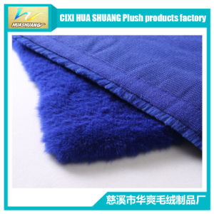 100% Polyster Fake Rabbit Fur Fabric pictures & photos