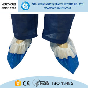 Sewn with PP+CPE Materials Non Slip Shoe Cover pictures & photos