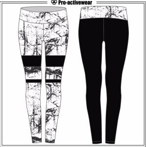 Women Sexy Pants Sports Leggings Customized Spandex Polyester Sports Wear pictures & photos
