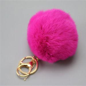 8cm Genuine Rabbit Fur Ball Keychain Pendant pictures & photos