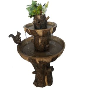 Outdoor Resin Solar Fountain with Planter on The Top pictures & photos