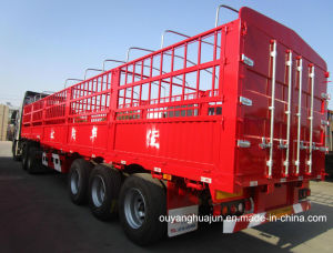 17.5 Meters Flatbed Semi Trailer with 2.6 M Warehouse Column pictures & photos