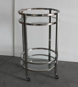 Shiny Stainless Steel Bar Trolley, Restaurant Trolley pictures & photos