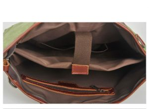 Top Layer Leather Canvas Fashion Designer Bags Man Hangbags (RS-879) pictures & photos