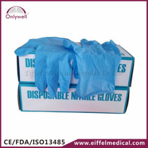 Medical First Aid PVC Vinyl Powdered Examination Gloves pictures & photos