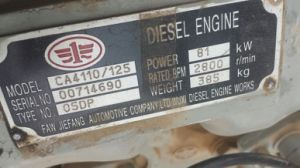 FAW Diesel Engine Ca4110/125 00714690 pictures & photos