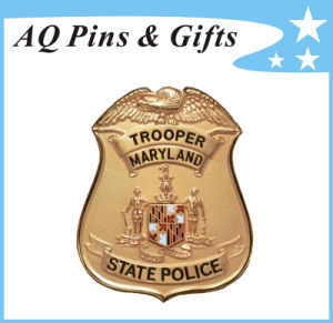 Custom Made Metal Police Badge in Wholesaler Price (badge-226) pictures & photos