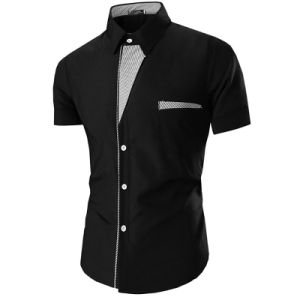 Men′s Stylish Contrast Dress Shirts with Chest Pocket (A450) pictures & photos