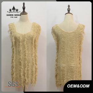 Women Fashion Asymmetric Sleeve Dress pictures & photos