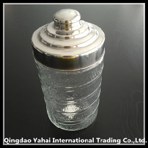 1300ml Glass Storage Jar with Metal Lid pictures & photos