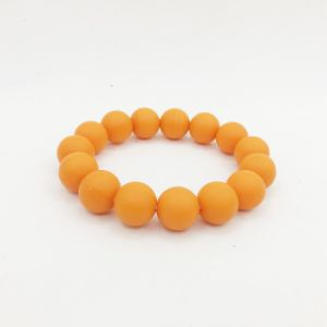 Candy Color Cute Eco Friendly Silicone Bead Bracelet pictures & photos