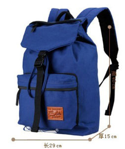 Blue Canvas School Bag Backpack for Teenager pictures & photos