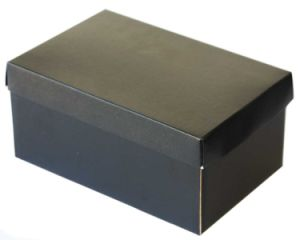 High Quality Black Color Shoes Box with Custom Printing pictures & photos