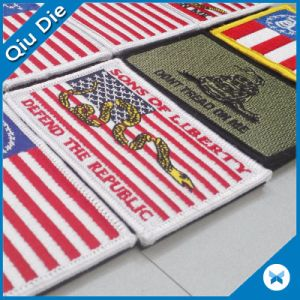 Flag 3D Embroidered Logo Neck Clothing Iron Patch pictures & photos