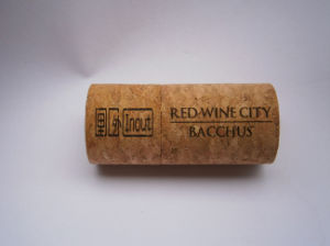Wooden Wine Cork USB Sticks 8GB 16GB with Engraved Logo pictures & photos